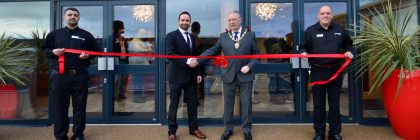 Pride of Kent: mayor Cllr Peter Coe congratulates Ricky Turner, general manager, on the new look at New Beach