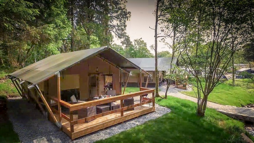 Camping never felt as pampered as this: all the joys of sleeping under the stars with home-from-home comforts