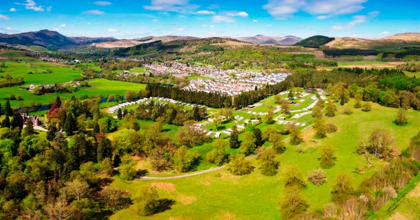 A park for countryside connoisseurs amid some of Scotland's finest scenery and the Trossachs National Park