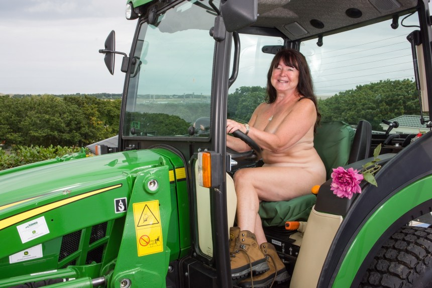Helping to warm up February is mum-of-three and grandmother-of-five Marie Horgan (61) from Stockport
