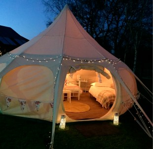 Luxury glamping is also an option in the park's tranquil grounds