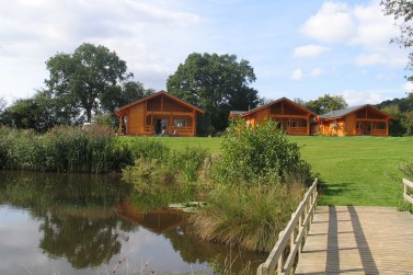 Timber lodges on the park enjoy tranquil views across the countryside
