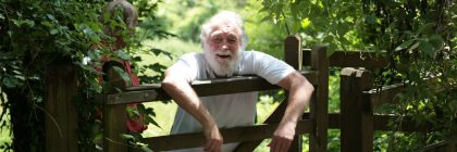 David Bellamy praised the many honey bee-friendly measures at the park and the care it provides for bird life