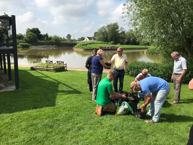 Growing your own: guests had a great time at the park's wildflower potting event