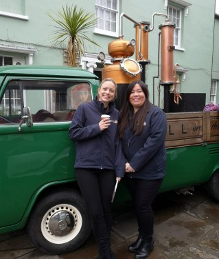 Ginny, a mobile gin distillery, brought Barkis to life in the centre of Bridport