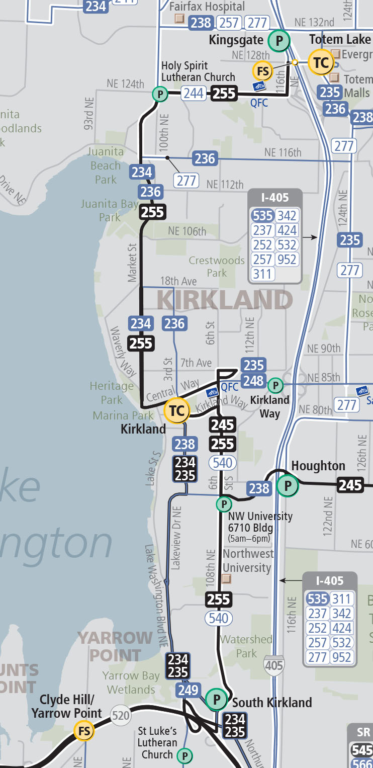 HCT Travel Times in Kirkland