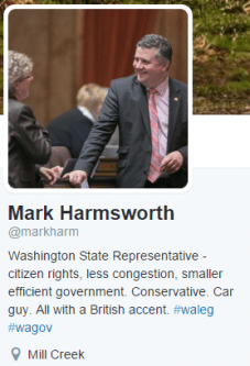 Mark Harmsworth represents the sprawling 48th Legislative District, and has been a prominent opponent of tolling.