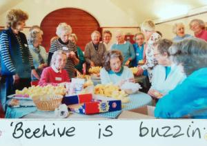 Older People at the Beehive Winchester making friends