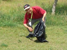 Robert White, 2016 Clean UP Photographer, Personal Friend of Richard St. Barbe Baker, Baha'i representative, SOS Elms, Richard St. Barbe Baker Afforestation Area, south west sector, in the City of Saskatoon, SK, CA at the Volunteer Community Clean UP 2016