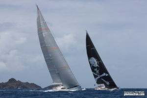 SPIIP racing at 2-17 St. Barths Bucket Regatta
