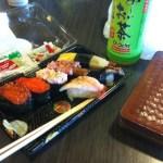 ホノルル空港で朝食に寿司