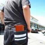 ココマイスターの長財布をポケットに入れてみた