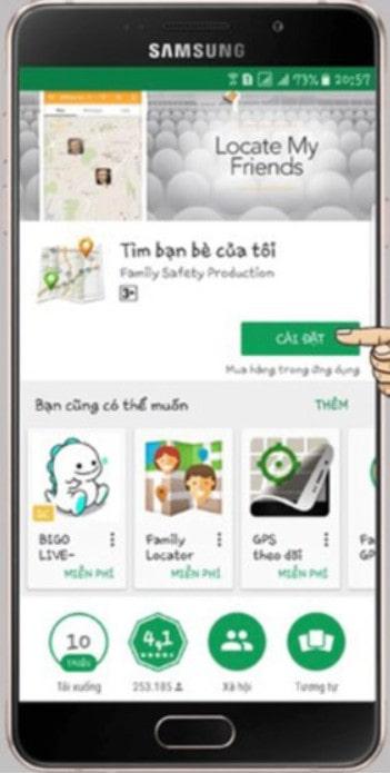 Phần mềm định vị điện thoại Android