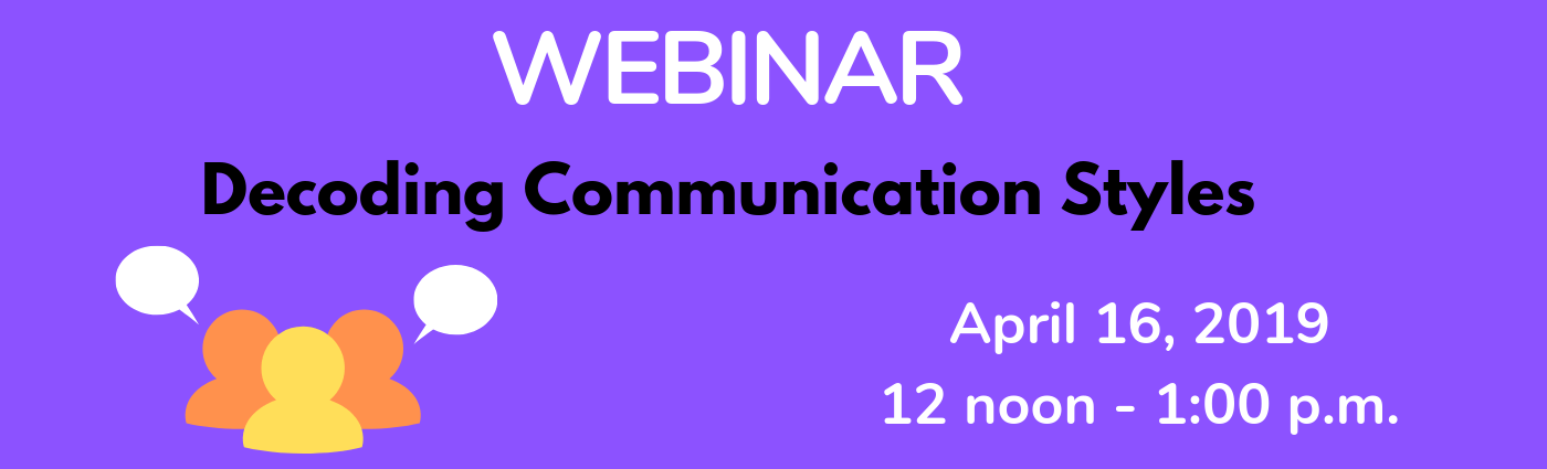 WEBINAR: Decoding Communication Styles