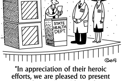 immunization intelligence news cartoon by STChealth