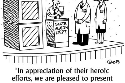 immunization intelligence news cartoon by STChealth