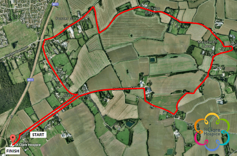 St Clare 10K course Map