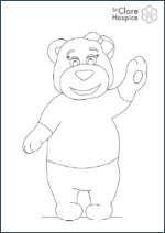 Clare Bear Colouring In Template
