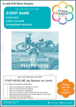 Challenge Fundraising Poster Template