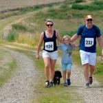 Family walking Stansted 10k