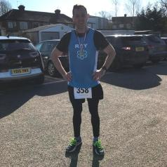 Photo 2 Ray Cogan completed the Roding Valley Half in February 2018