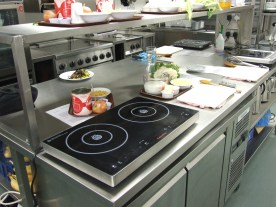The Hospice kitchens provided the perfect space to practice preparing and cooking meals