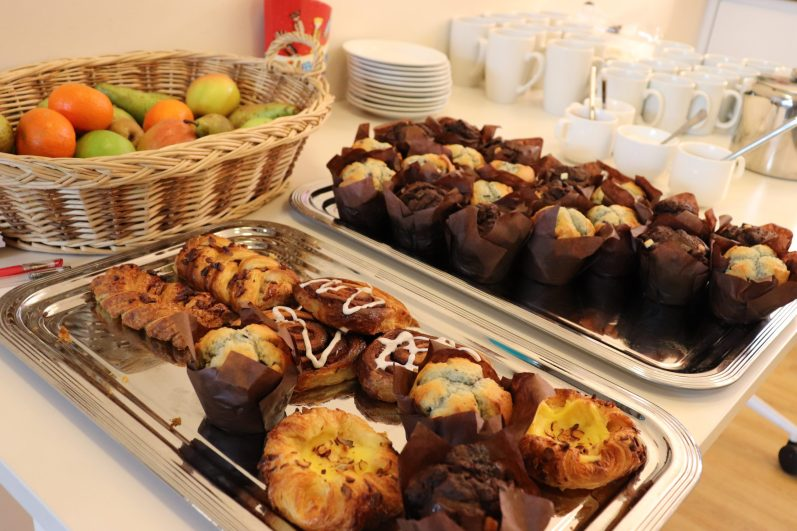 Cakes and pastries at Café Clare