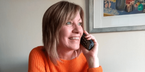 Carolyn Johnson, Compassionate Neighbour, on the phone