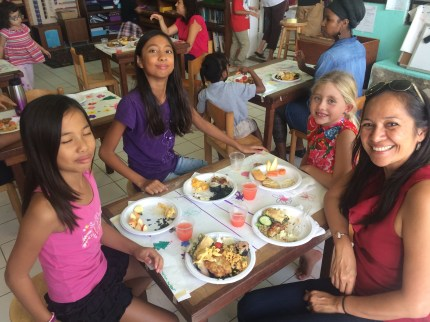 Meals with friends are opportunity to practice manners AND have fun