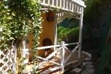 Garden side patio