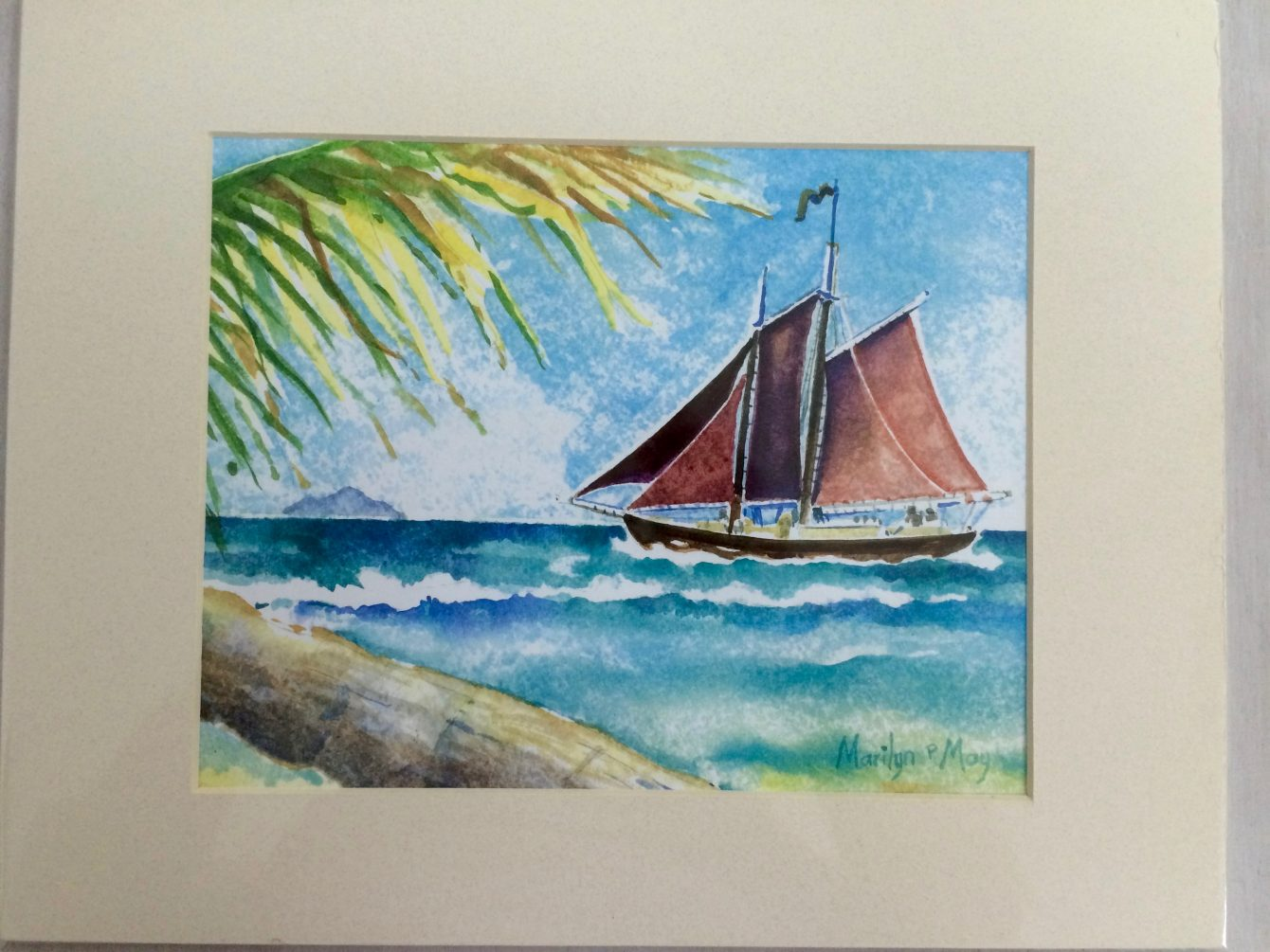 Watercolor of the Roseway, by Marilyn May
