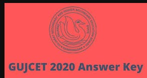 GUJCET 2020 Offficial answer key