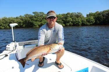 Clearwater fishing charter customer