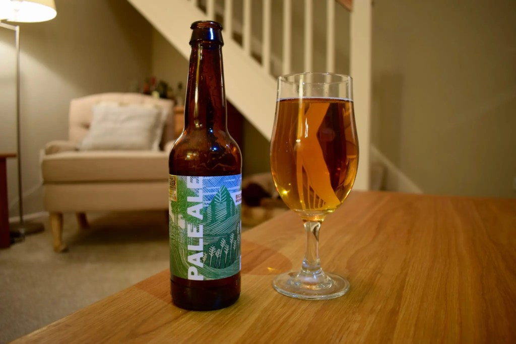 Big Drop low-alcohol Pale Ale bottle and glass