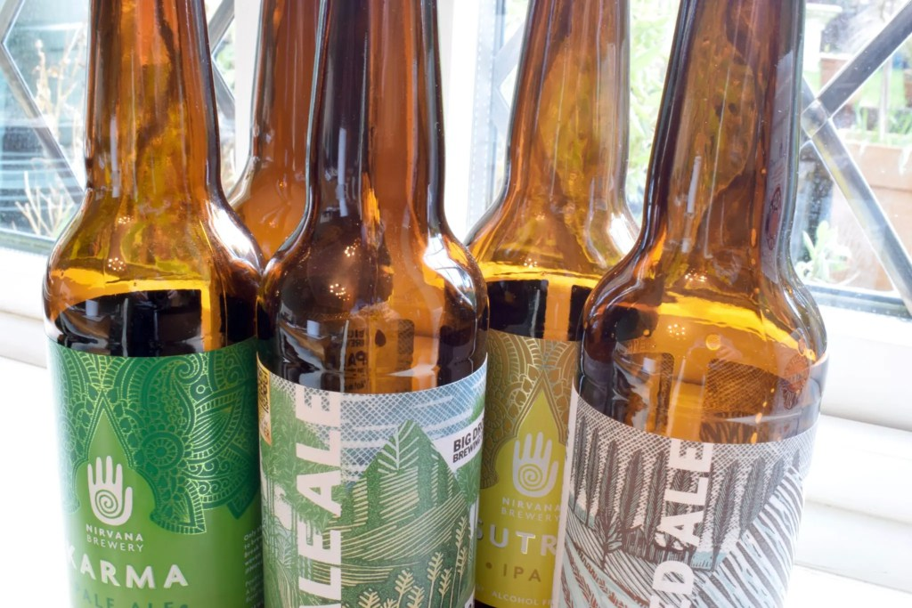 Selection of low alcohol beers from Nirvana and Big Drop