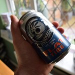 """Pistonhead """"Flat Tire"""" (0.5%) non-alcoholic lager by Brutal Brewing"""