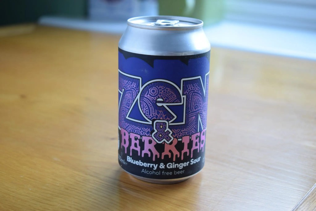 Zen and Berries alcohol-free beer by Nirvana and London Fields can
