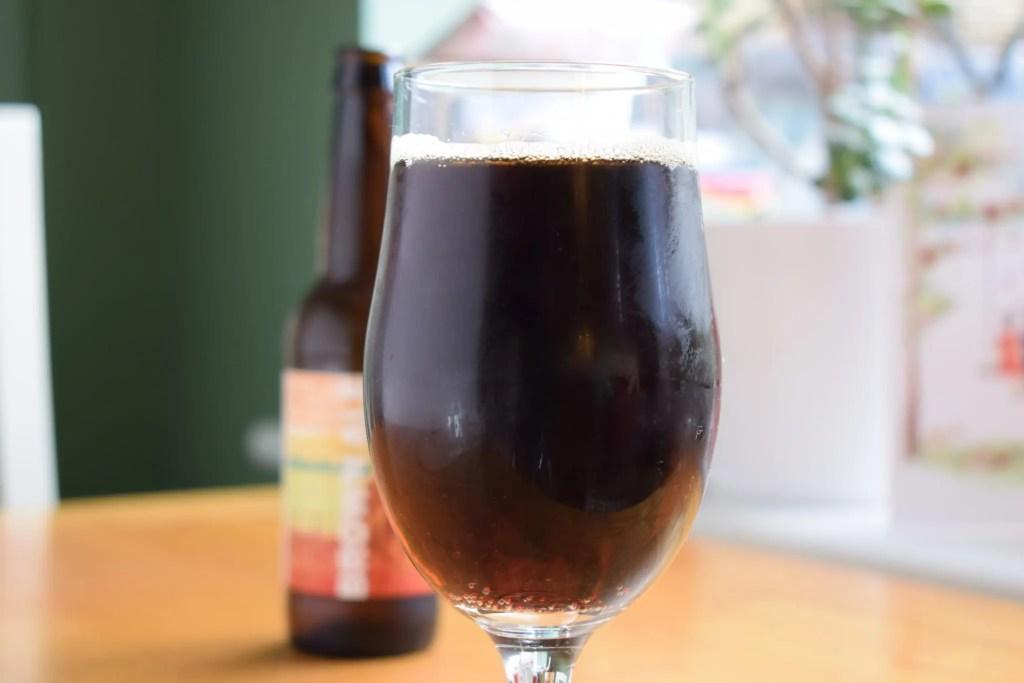 Big Drop Brown Ale close up