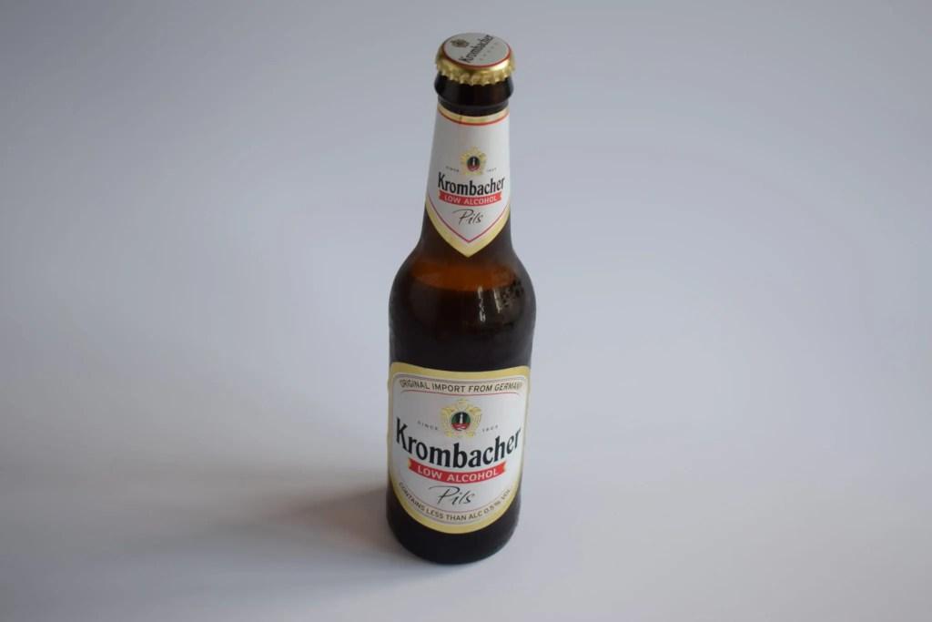 Krombacher alcohol-free beer bottle