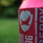 Close up of Raspberry Blitz can