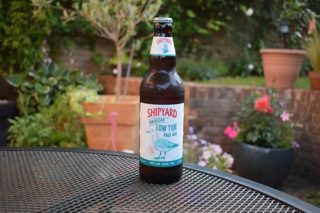 Bottle of Shipyard Low Tide American pale ale