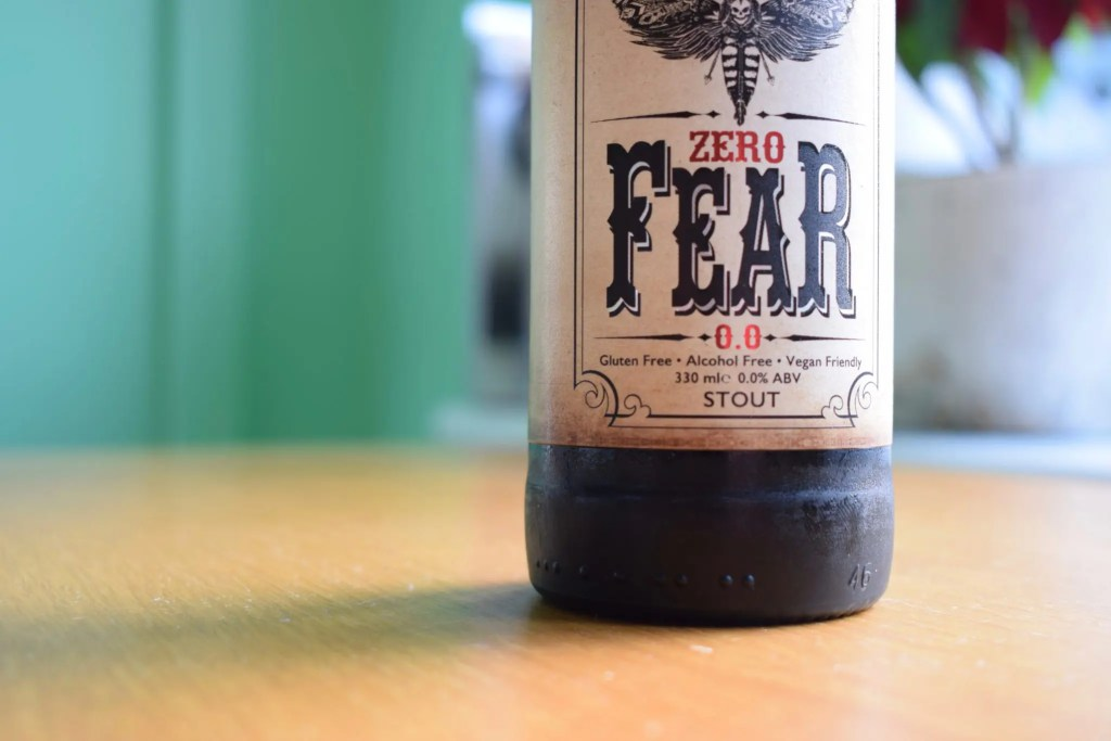 Close up of Bottle of Rok Soba Zero Fear Beer