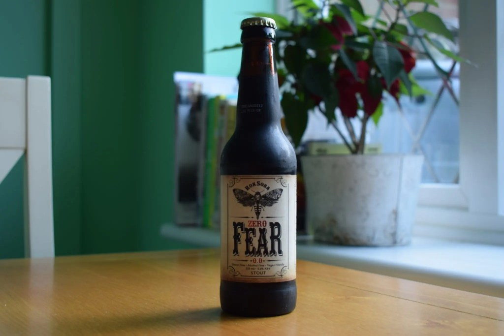 Bottle of Rok Soba Zero Fear Beer