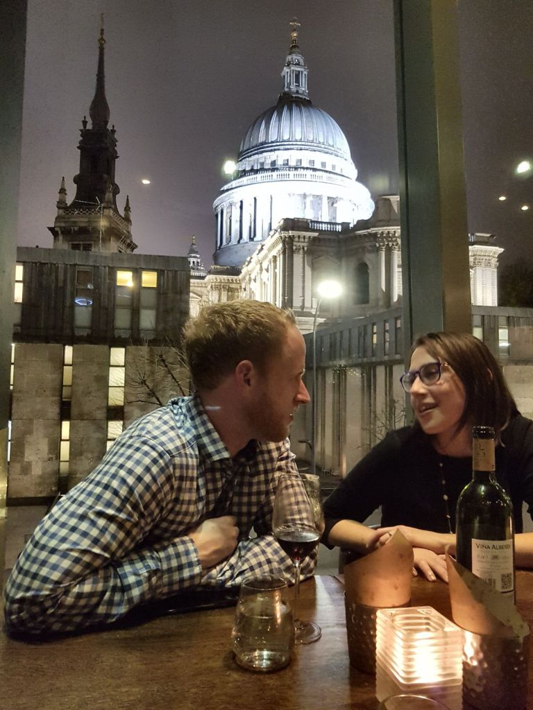 An image of the view of St Paul's Cathedral at Barbecoa
