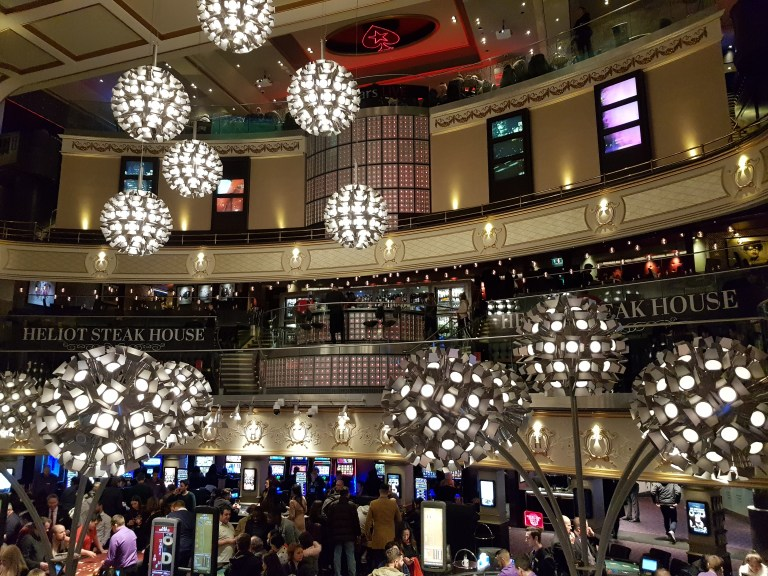 An image of the interior of Hippodrome Casino