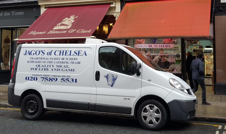 An image of Jago butchers and van