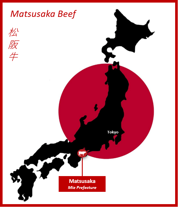 An image of where Matsusaka beef is from