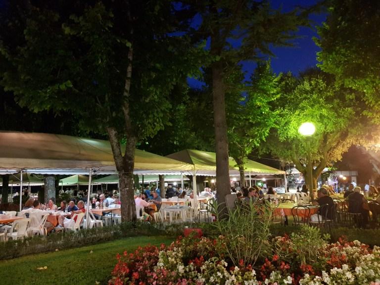 An image of the setting at Sagra della Bistecca