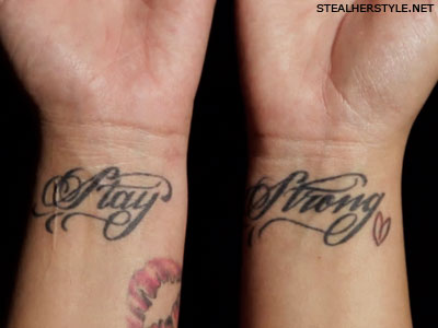 Demi Lovato ficar tatuagens fortes
