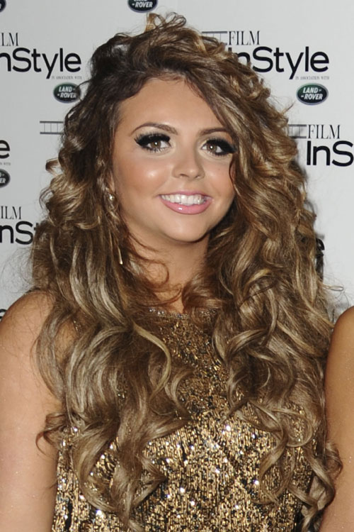 Jesy Nelson Wavy Light Brown Side Part Hairstyle Steal